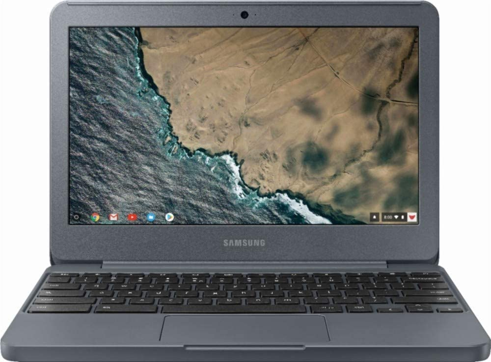 Samsung Chromebook 3 XE501C13-K02US, Intel Dual-Core Celeron N3060, 11.6in HD, 4GB DDR3, 32GB eMMC, Night Charcoal (Renewed)