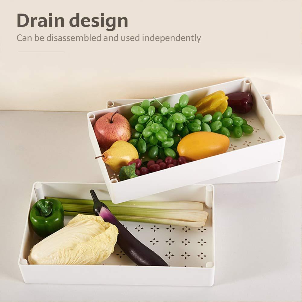 Noir Wefun Chariot de Service Desserte de Cuisine /à roulettes 4 Tablettes pour Cuisine et Salle de Bain