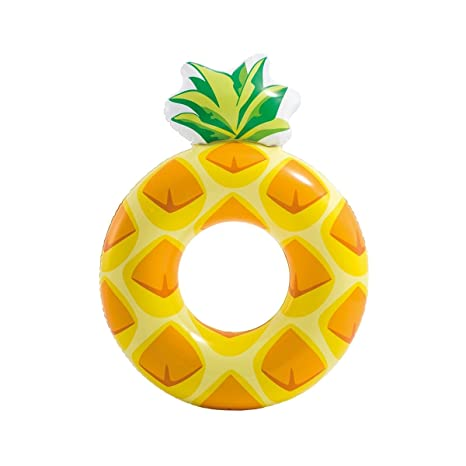 Dabuty Online, S.L. Flotador Piña Hinchable Diseño Amarillo Adulto Medidas 117x86 cm. Flotador Fruta