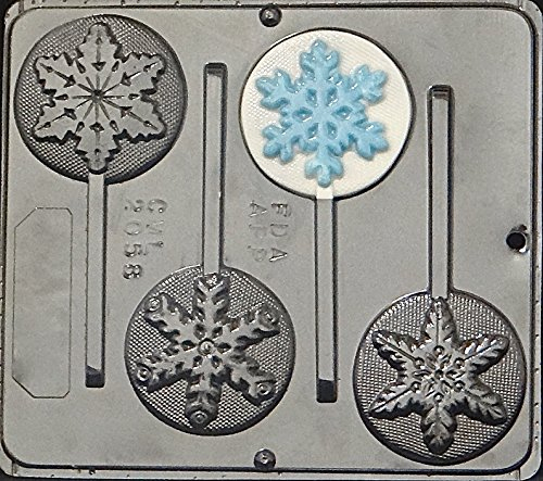 Candy Molds N More Snowflake Lollipop Chocolate Candy Mold Christmas 2058