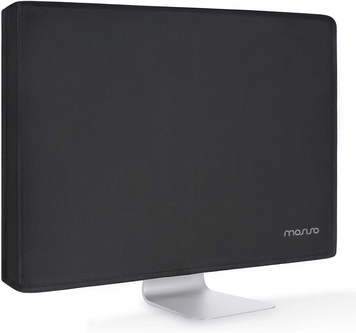 MOSISO Monitor Dust Cover 22, 23, 24, 25 inch Anti-Static Polyester LCD/LED/HD Panel Case Screen Display Protective Sleeve Compatible with 22-25 inch iMac, PC, Desktop Computer and TV, Black