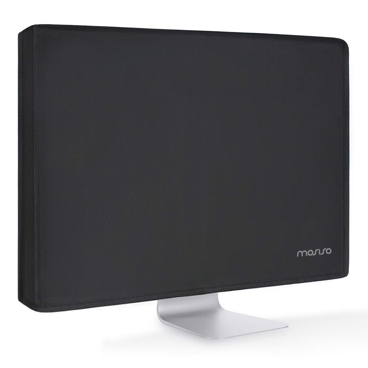 MOSISO Monitor Dust Cover 26, 27, 28, 29 Inch Anti-Static Polyester LCD/LED/HD Panel Case Screen Display Protective Sleeve Compatible with 26-29 Inch iMac, PC, Desktop Computer and TV, Black