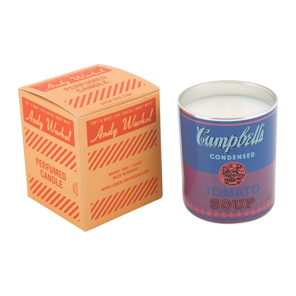Andy Warhol Scented Campbell's Soup Can Candle — Blue / Purple (Fig & Tree Scent) Fig & tree fragrance