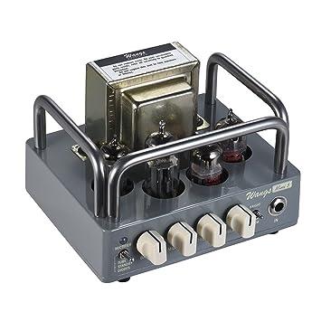 ammoon Amplificador de Guitarra cabeza Biyang Wangs Mini 5 Fuerza Completo 5 W todo Tubo con 12 AX7 12bh7 6z4 tubos: Amazon.es: Instrumentos musicales