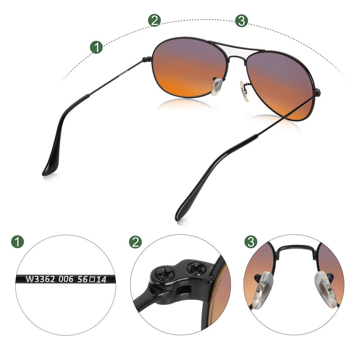 Amazon.com: Wenlenie - Gafas de sol de aviador para hombre y ...