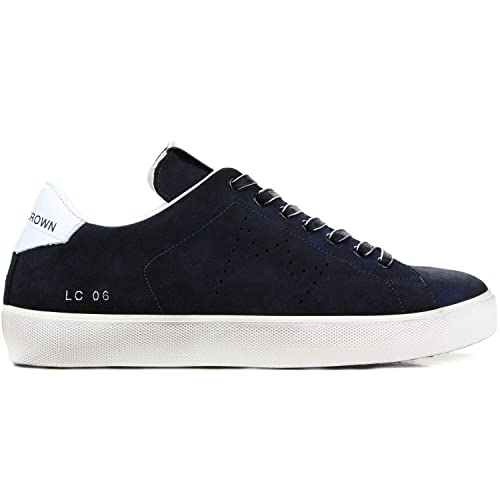 huge discount 820c5 65cd1 Amazon.com | Leather Crown Men's Sneaker Uomo Cervo Nero ...
