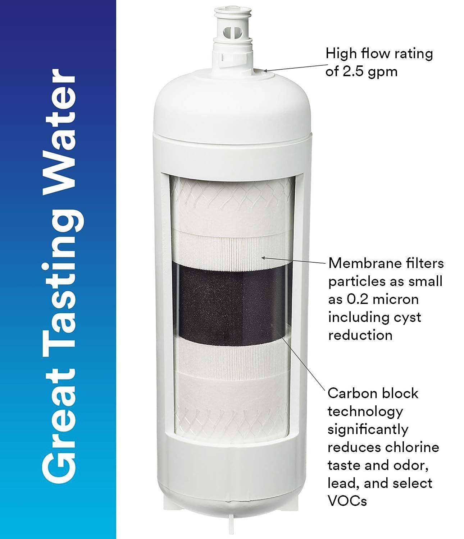 3M Aqua-Pure Under Sink 3MFF100 Water Filter inside