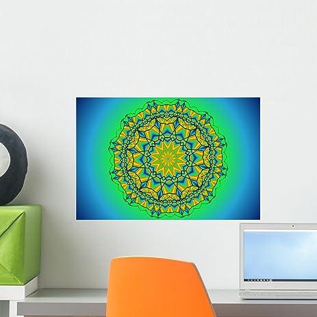 Ocean Mandala Wall Mural By Wallmonkeys Peel And Stick Graphic 18 In W X 12