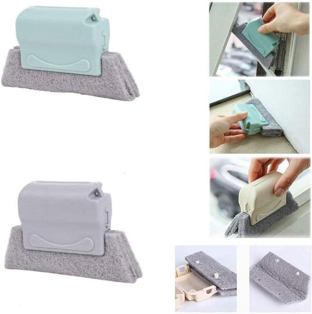 2pc - Creative Hand-held Window Gap Door Corner Track Sliding Sponge Cleaning Brush, Window Door Track Cleaning Brush Gap Groove Sliding Tools