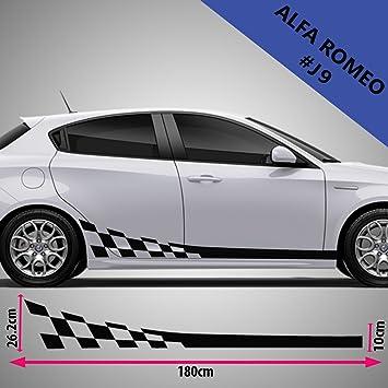 Alfa Romeo Car Side Stripes Graphics Vinyl Decal Amazon Co Uk Car