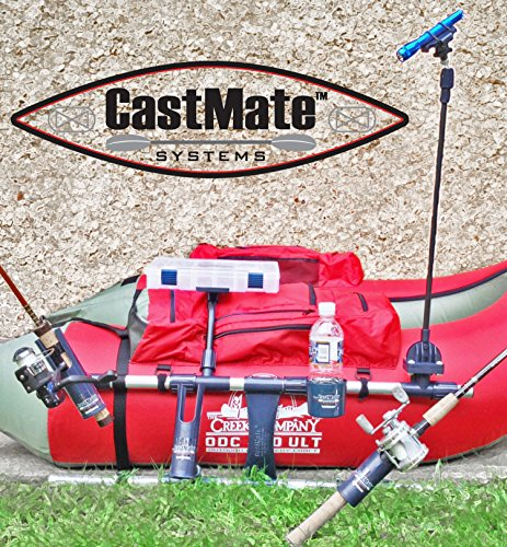 CASTMATE-Systems-V20-Float-Tube-Pontoon-Boat-Fly-Rod-Holder-Accessory-Cup-Holder-Net-and-Tackle-Gear-Fly-Fishing-Edition