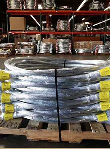 3 bundles - 13 gauge x 13 ft galvanized bale tie wire (250 strands/bundle) 70#/bundle by Wire & Packaging