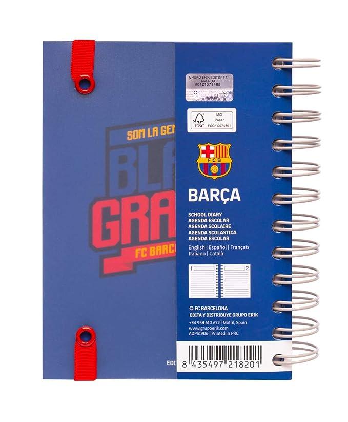 Agenda escolar 2019/2020 día página S Fc Barcelona