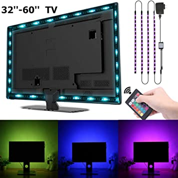 TV retroiluminación, SOLMORE RGB USB luces de tira LED SMD 5050 Flexible luz tira con 24-