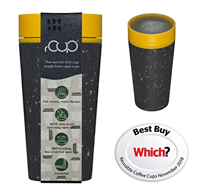 c244717ab16 rCup - World s first reusable cup made from recycled cups (Black - Mustard)