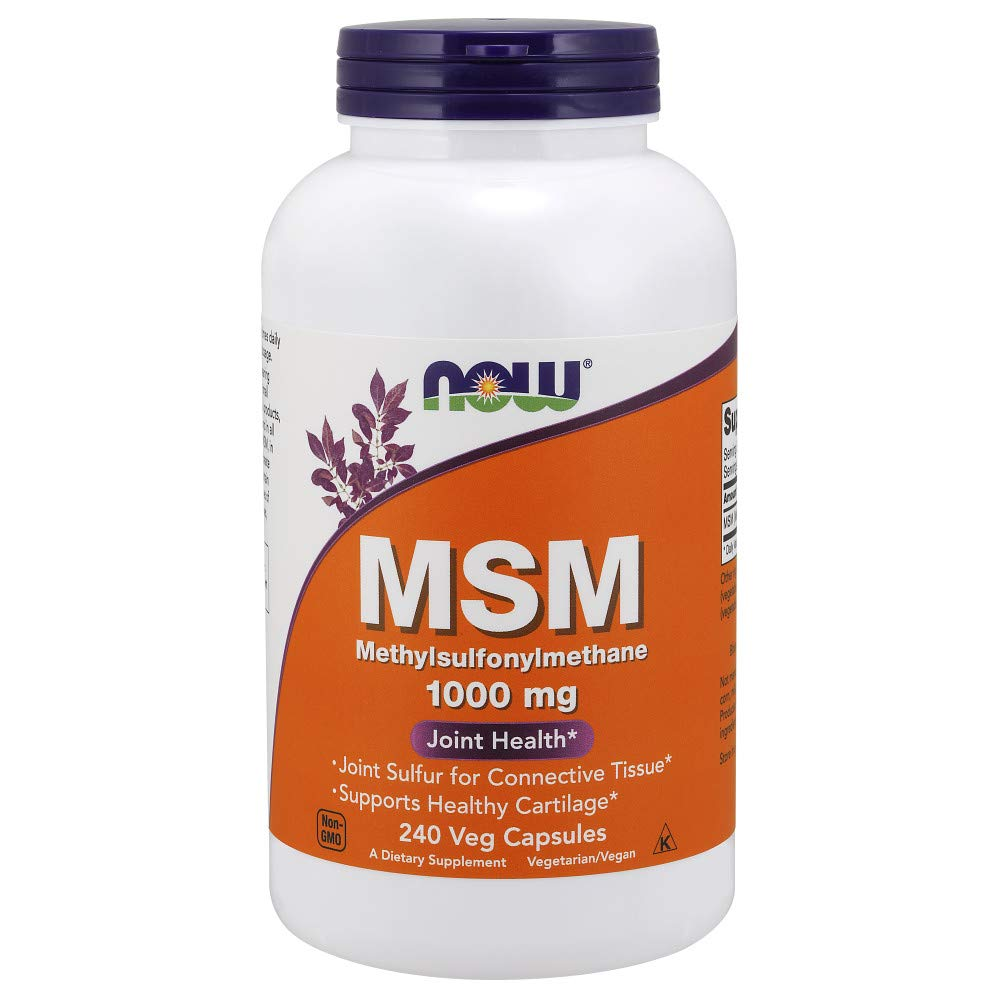 NOW Supplements, MSM (Methylsulfonylmethane)1000 mg, 240 Veg Capsules by NOW Foods