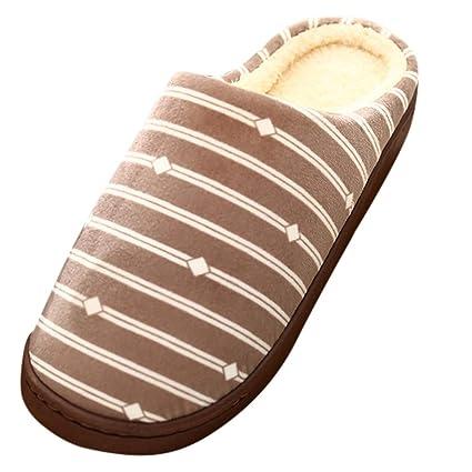 aec0370ca1fd9 Amazon.com: YJYdada Slippers, Men Warm Gingham Plush Soft Slippers ...