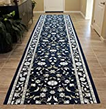 Masada Rugs Extra Wide Long Runner Area Rug Floral Design, Non Slip Backing, Machine Washable (40 Inch X 19 Feet 8 Inch) Review