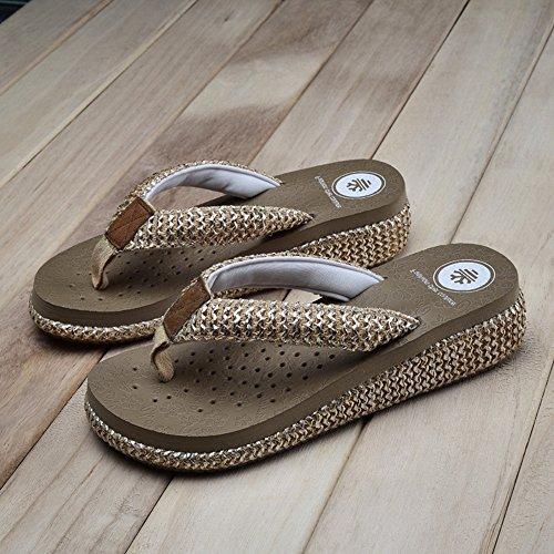 Playa Playa mujeres zapatos HAIZHEN Beige de Antideslizantes Blanco Para Antideslizantes Marrón Beige Negro Zapatillas mujer qYx0nqB