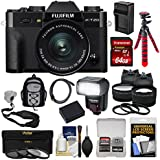 Fujifilm X-T20 Wi-Fi Digital Camera & 15-45mm XC OIS PZ Lens (Black) 64GB Card + Battery + Charger + Tripod + Flash + Backpack + 2 Lens Kit