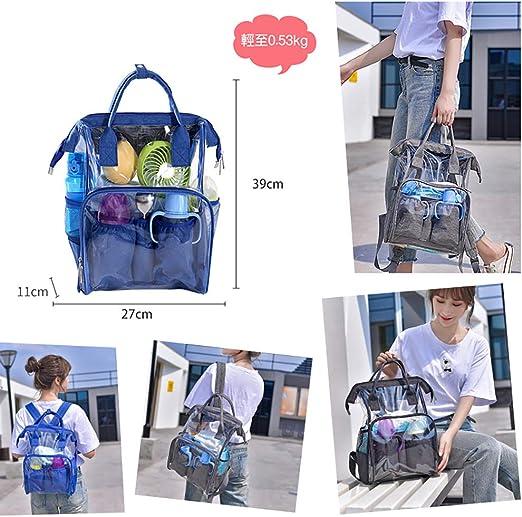 mochila multifunci/ón transparente para pa/ñales BeeViuc Bolso cambiador de beb/é impermeable con bolsillos aislados para el cuidado del beb/é azul azul