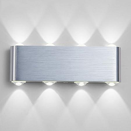 PHOEWON Lampe Murale LED, 8w Moderne Aluminium LED Applique