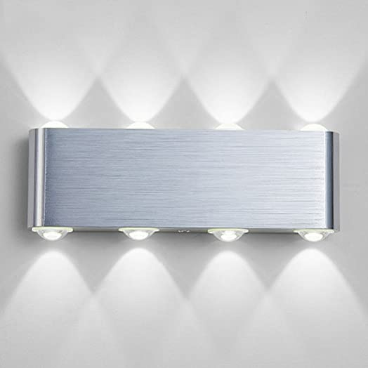 8W LED Wall Light, PHOEWON Modern Led Wall Sconce Lights Aluminium ...
