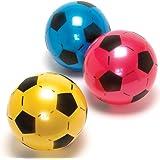 PoundSaver ® Soft Lightweight PVC Plastic Shoot Soccer Football Play anywhere Beach Park Home School Birthdays Indoor Outdoor - Colours Vary (5 Balls)