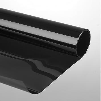 Sonnenschutzfolie 75 x 300 cm schwarz Selbstklebend 85 /% Tönungsfolie Autofolie