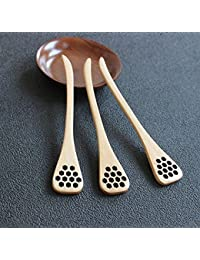 Acquisition 2015 New, Delicate Natural Wood Honey Spoon Server Healthy Mixing Stick Spoon (1piece) online