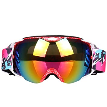 5b690f396083 Ski Goggles Glasses with Storage Box UV400 Unisex Anti-fog Double Lens  Professional Snowmobile Snowboard Skate Skiing Goggles