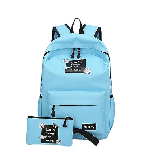 Xinwcang Mochila para Portátil para Hombre y Mujer,Casual Colegio Mochilas Bolso de Mano Cartera Escolar Aire Libre Viajes Azul: Amazon.es: Zapatos y ...