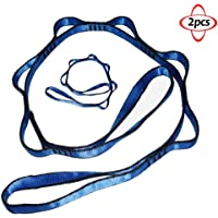 Nylon Daisy Chain 6 Loop Multipurpose Strap Rope 2pcs 25kN Strong Climbing Straps 43 Inches for Yoga Swing Yoga Hammock Trapeze Ceiling Anchors Daisy Chains