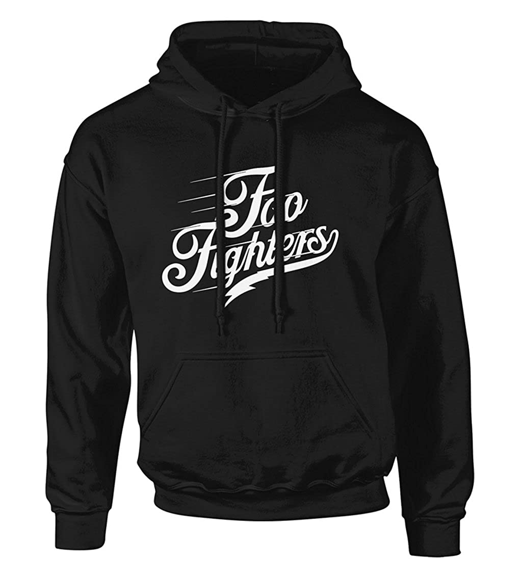 Plastic Head Foo Fighters Logo Text Pullover Hoodie Black Amazon