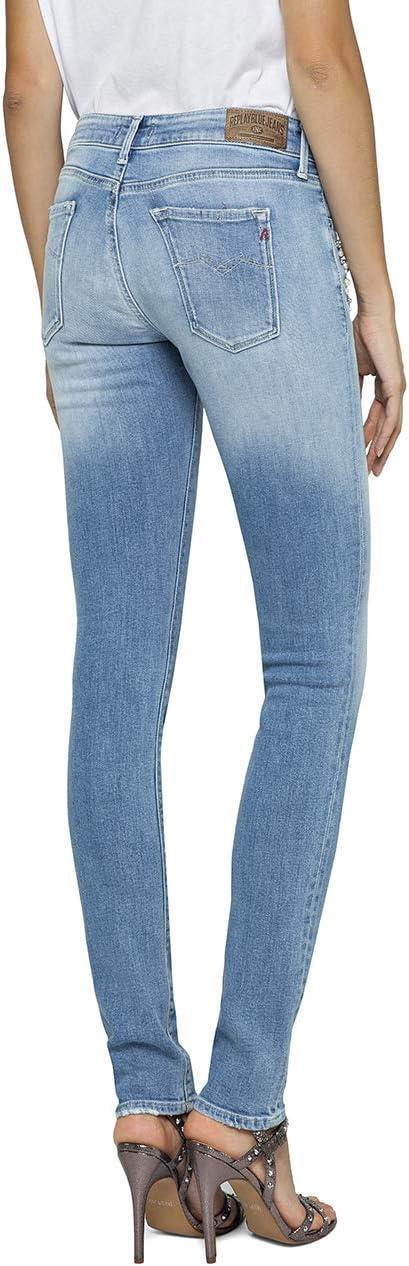 Replay Luz Skinny jeansy damskie: Odzież