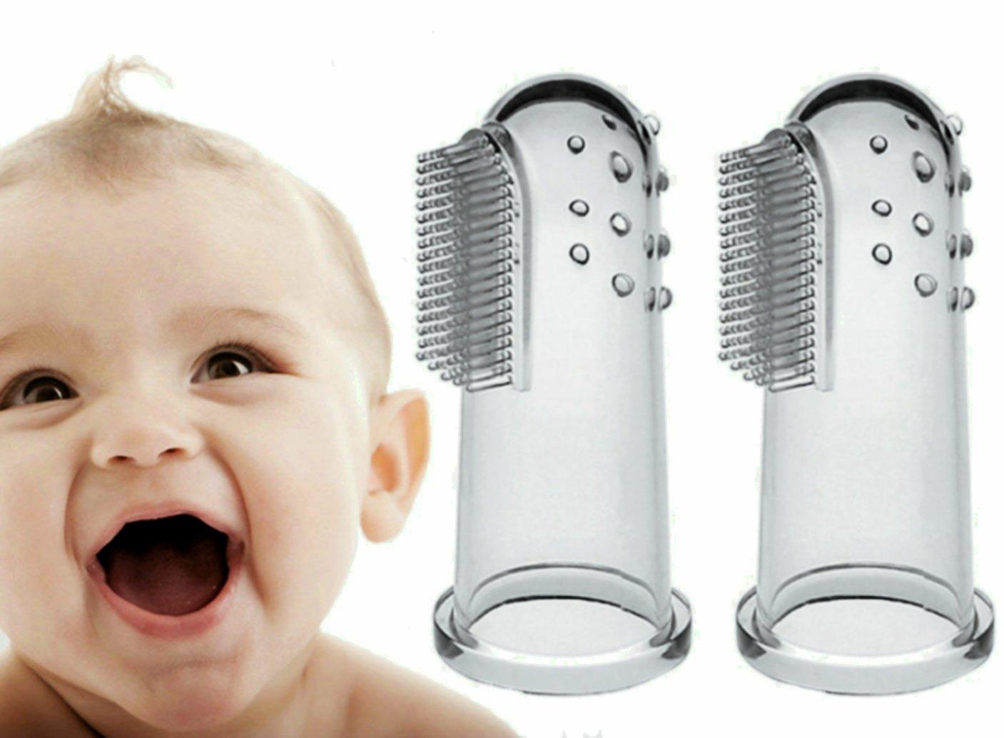 Brosse à dents souple pour bébé (2 paquets) - Massage de qualité supérieure, Kit de soins pour nourrissons doux, Parfait pendant la dentition, Gardez votre enfant hygiénique Amasawa Amasawa-10