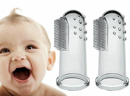 Massager oral Para bebé (2 paquetes) Prima Alta calidad Suave El entrenamiento de silicona
