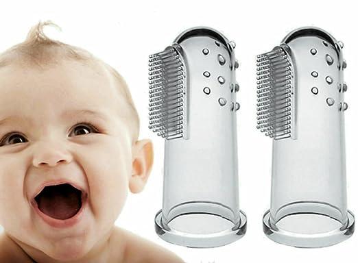 4 opinioni per Baby Spazzolino Spazzolino da dito inkl (2pezzi).ufbewahrungsbox–perfetti per