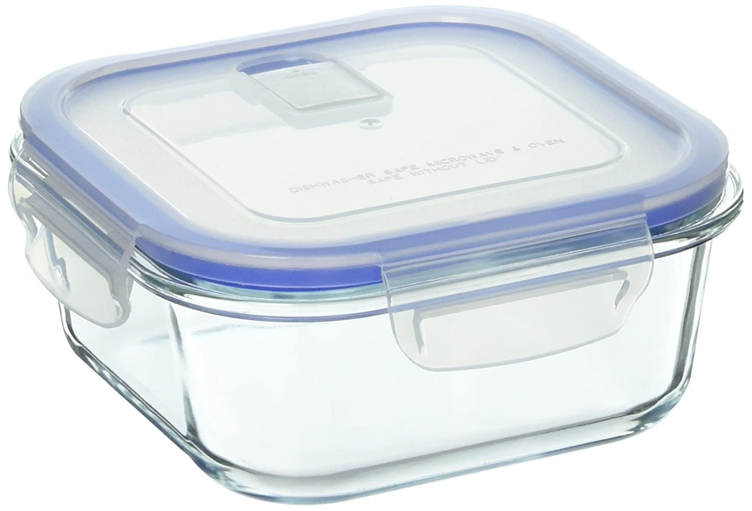 B4000-2 Uniware Heat Resistant Premium Glass Food Container with Snap-Lock Lid (SQUARE) (27 OZ)