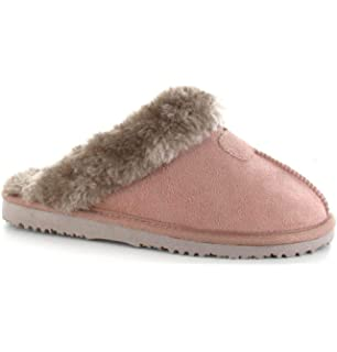 40255b83e093d Ella Women s Jill Faux Sheepskin Look Fur Lined Memory Foam Mule ...