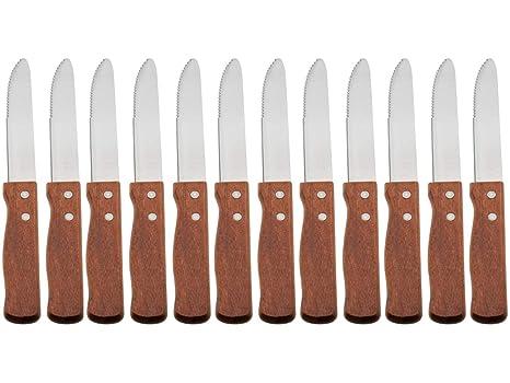 Amazon.com: Jumbo cuchillo de carne con mango de madera ...