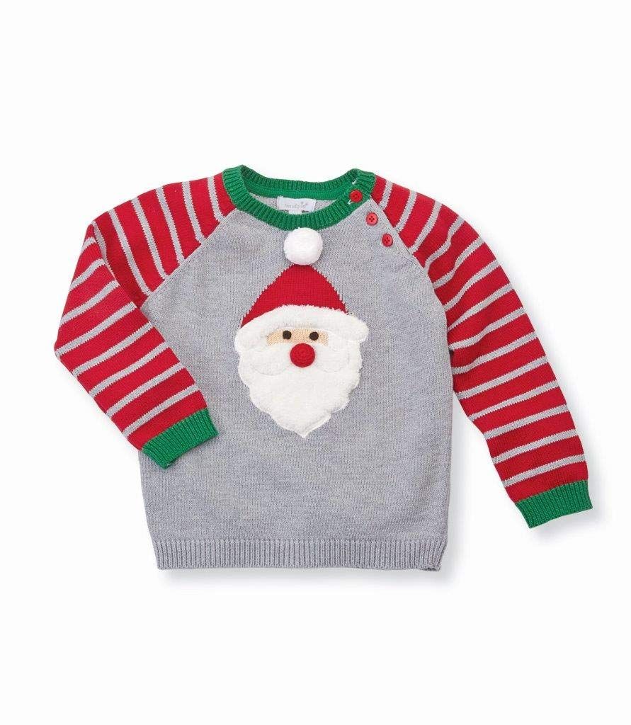 Mud Pie Baby Boy's Santa Long Sleeve Christmas Sweater (Infant/Toddler) Red MD (2T-3T Toddler) by Mud Pie