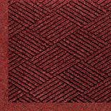 Andersen 2297 Waterhog Eco Premier Fashion PET Polyester Fiber Indoor/Outdoor Floor Mat, SBR Rubber Backing, 6' Length x 4' Width, 3/8'' Thick, Red