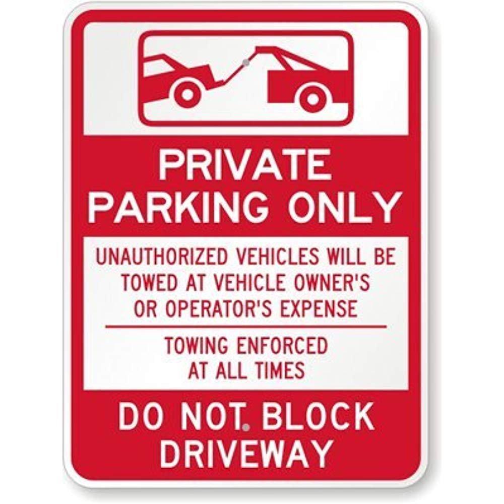 Amazon.com: Solo aparcamiento privado (con gráfico de ...