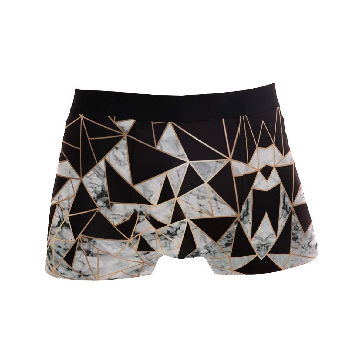Charlley Lee Mens Soft Breathable Marble Polygon Underwear Boxer Briefs