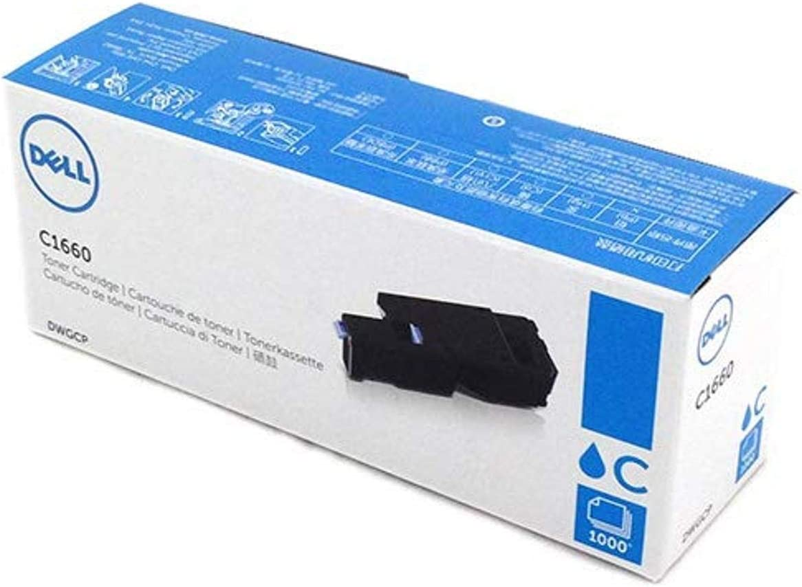 Dell DWGCP Cyan Toner Cartridge C1660w Color Printer