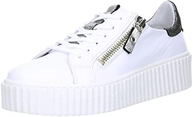 8813d0fa824935 ONLINE SHOES Damen Sneaker Plateau Weiß