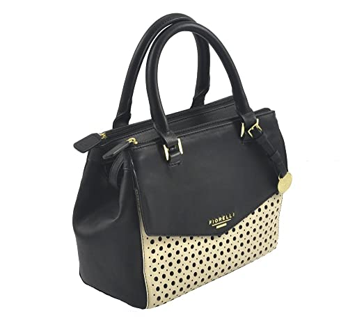 f339fb45053 Mia  Designer Inspired Black Perforated Women s Grab Bag by Fiorelli ...