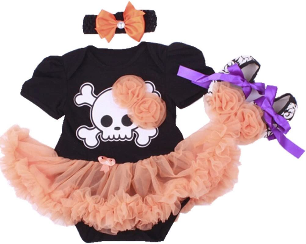 0-3 Months, Halloween Hat Sallyshiny Halloween Costume Newborn Baby Girl Romper Dress Outfit Bodysuit Tutu Skirt Clothes Party Dresses Headband Shoes