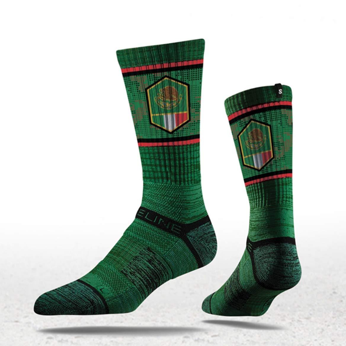 Mexico Flag Crew Socks Strideline S Collection